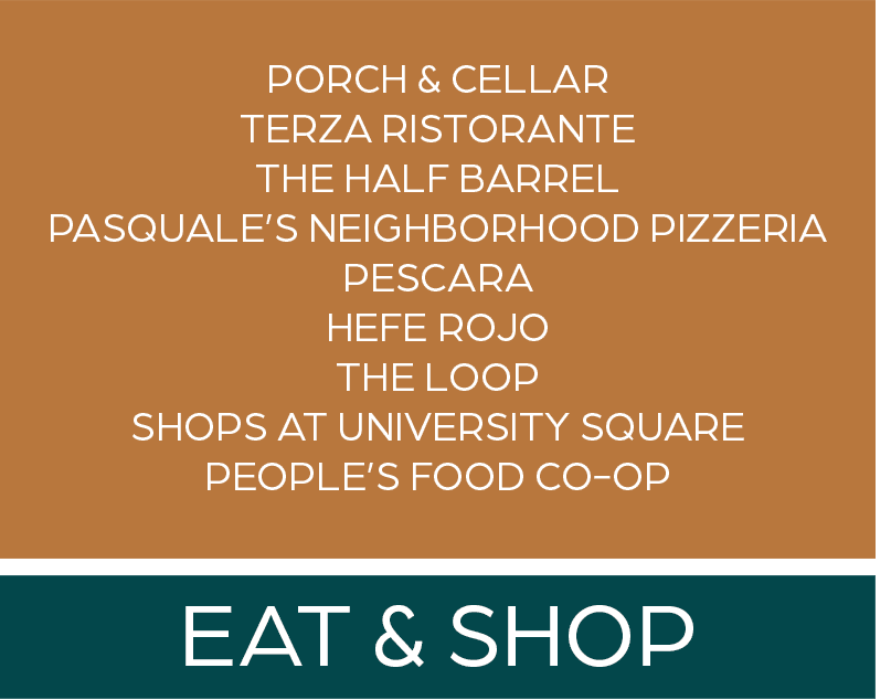 Restaurants and shops near The Maven on Broadway in Rochester, Minnesota