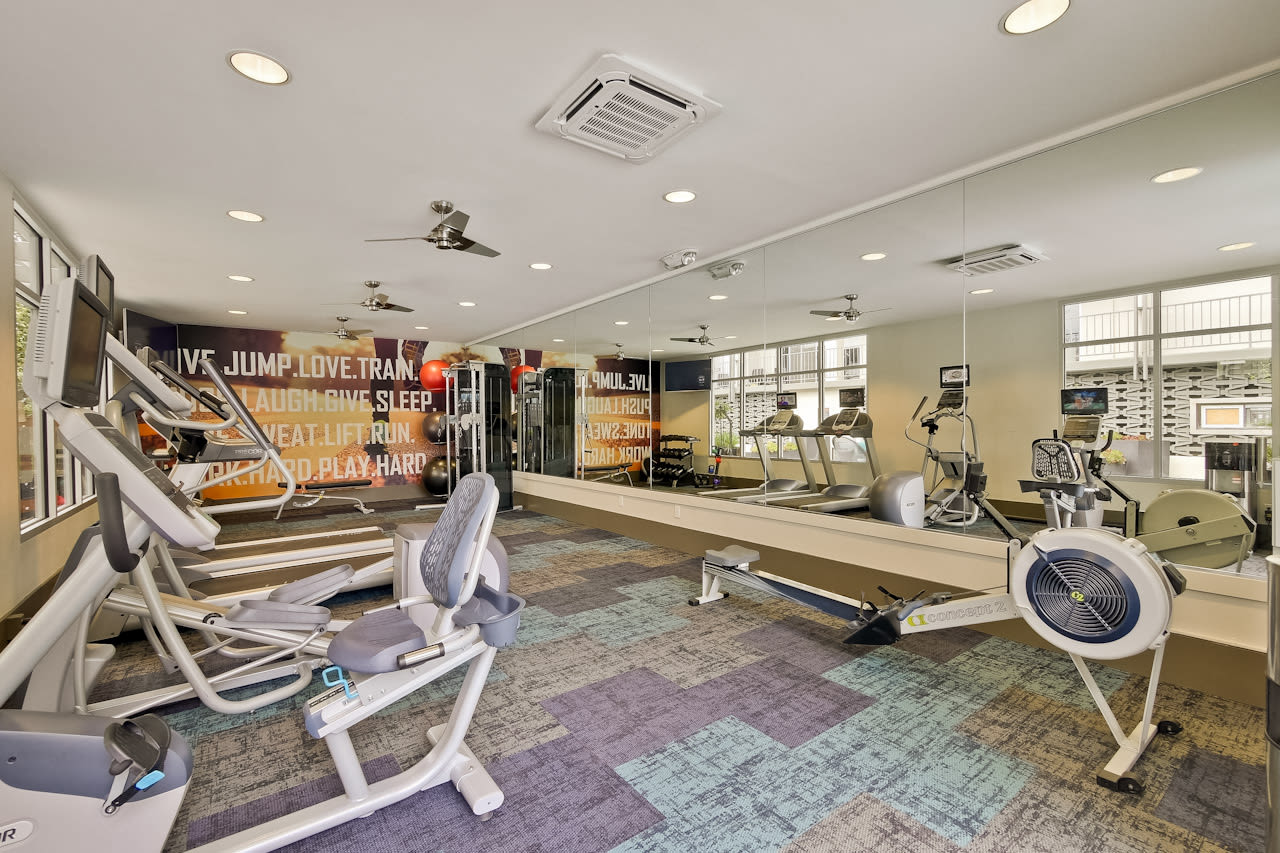Fitness center is available at Mia in Palo Alto, CA