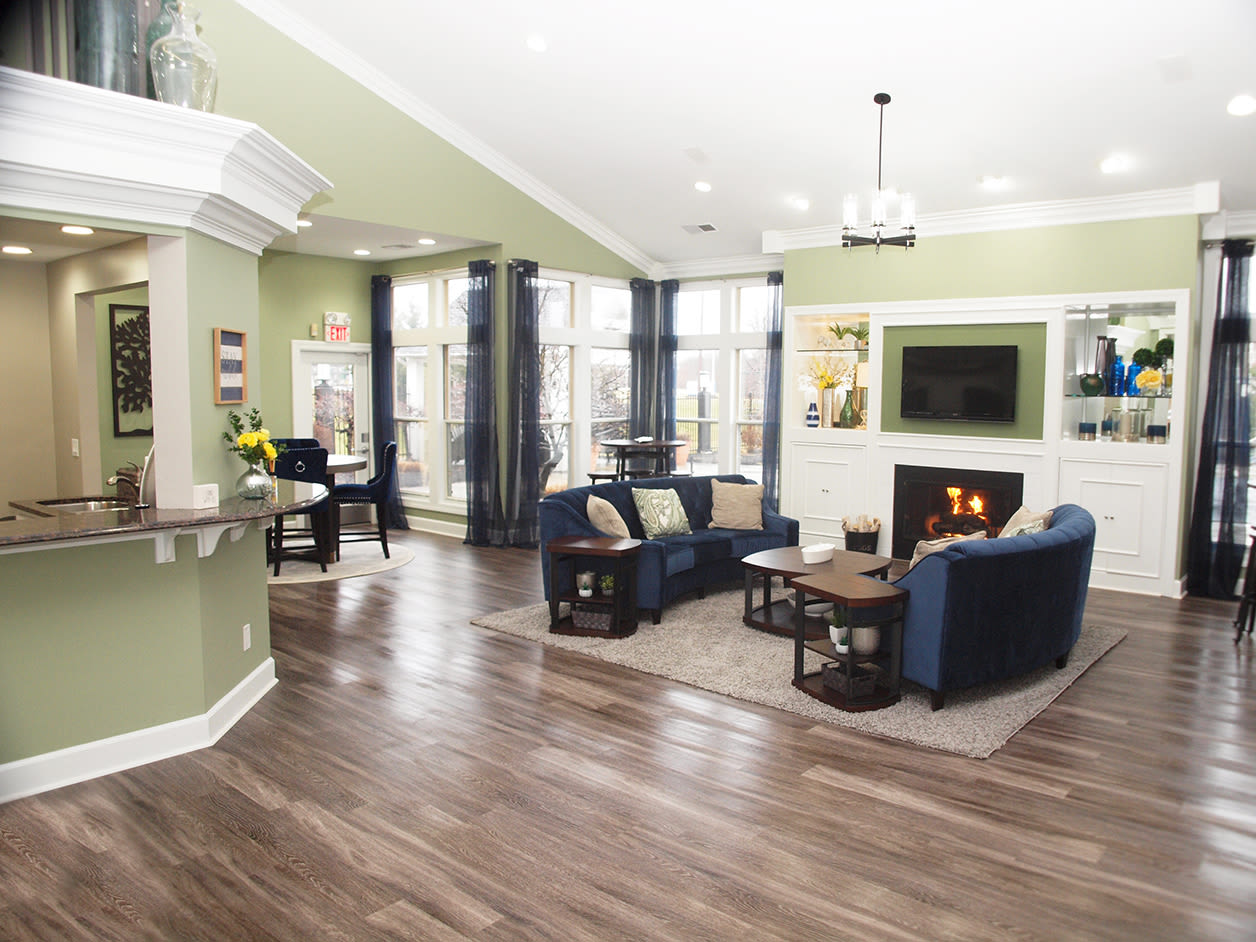 Spacious clubhouse community space at Waterford Place in Loveland, Ohio