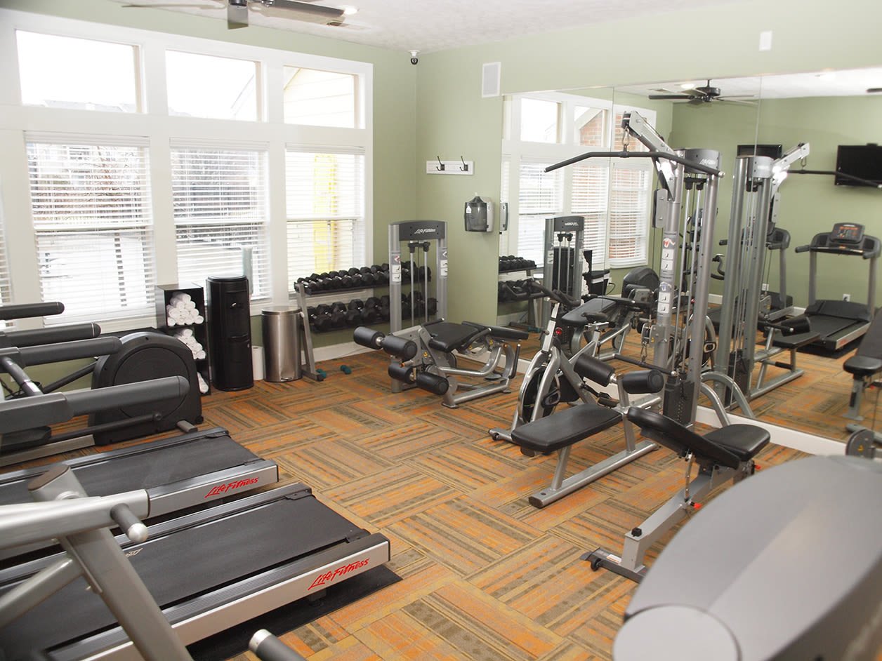 Fitness center at Waterford Place in Loveland, Ohio