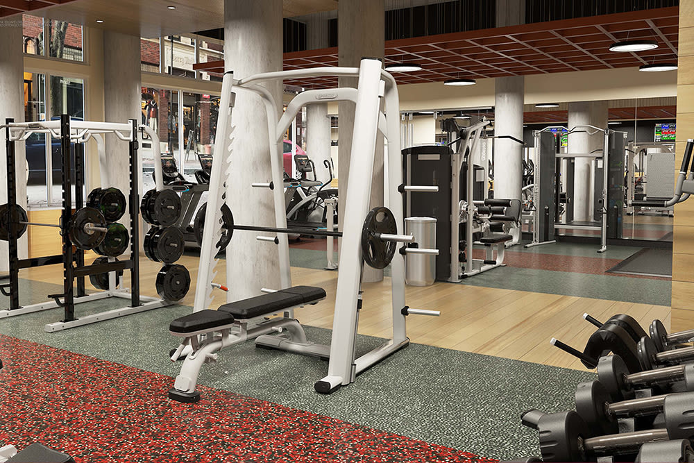 Enjoy apartments with a fitness center at City Centre Ithaca
