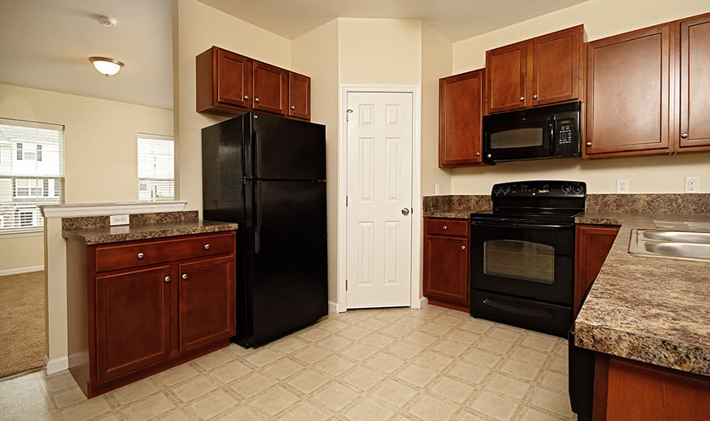 Kitchen at Emerald Pointe Townhomes in Harrisburg, Pennsylvania