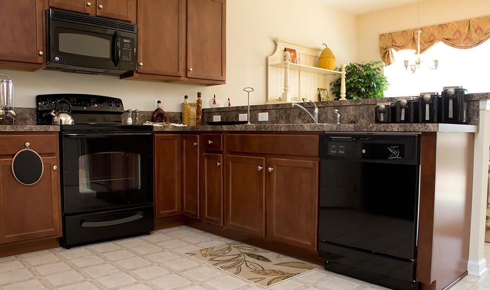 Modern appliances at apartments in Harrisburg