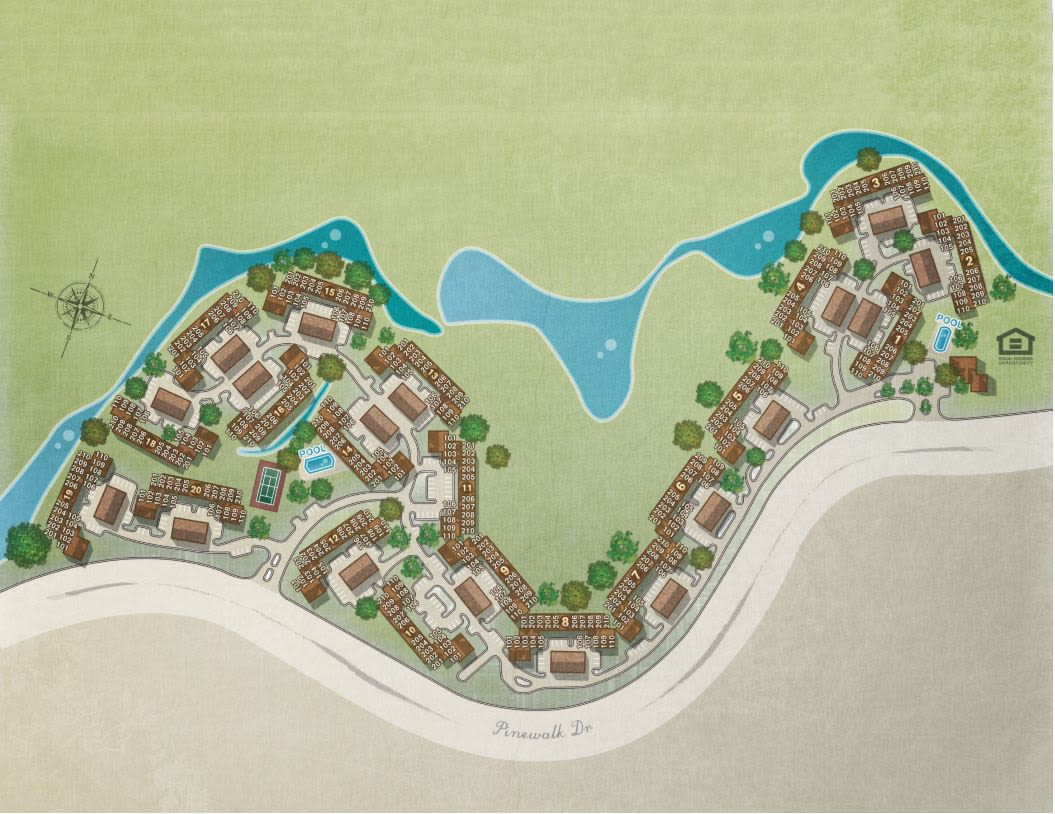 Site plan for IMT Pinebrook Pointe in Margate, Florida