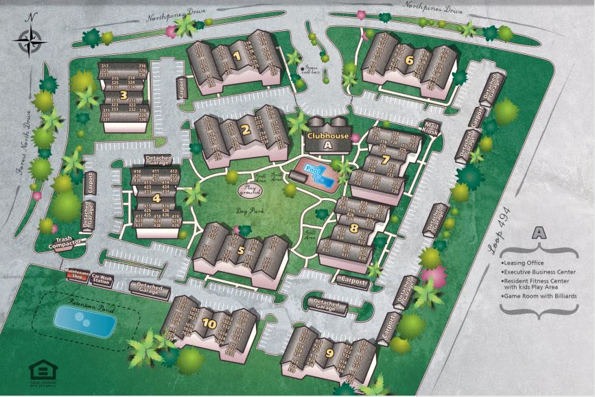 Site plan for IMT Kingwood in Kingwood, Texas