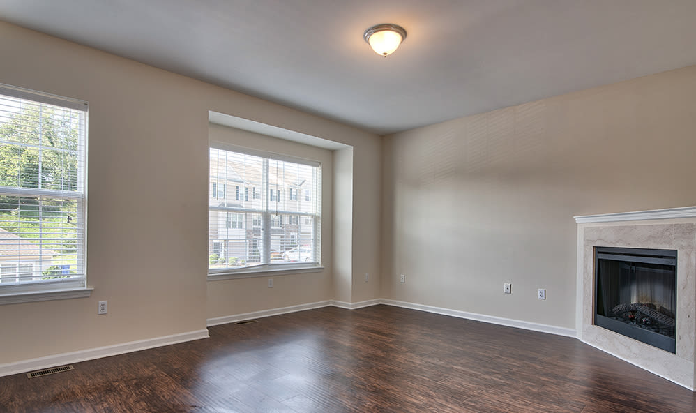 Emerald Pointe Townhomes in Harrisburg, Pennsylvania offers apartments with a fireplace