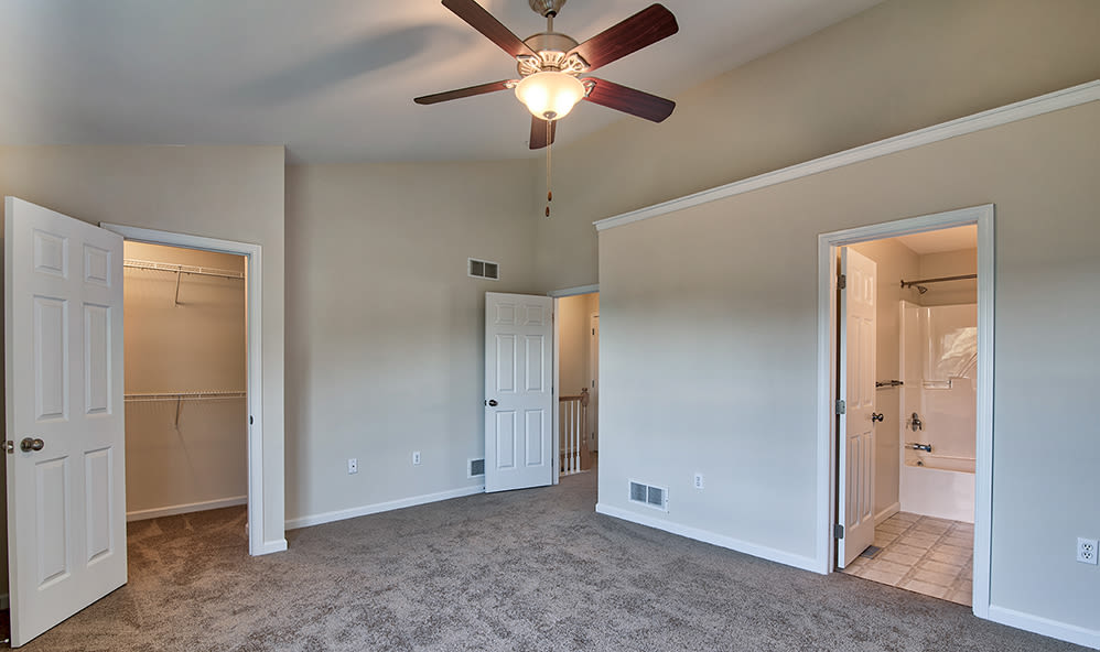 Bedroom at Emerald Pointe Townhomes in Harrisburg, Pennsylvania