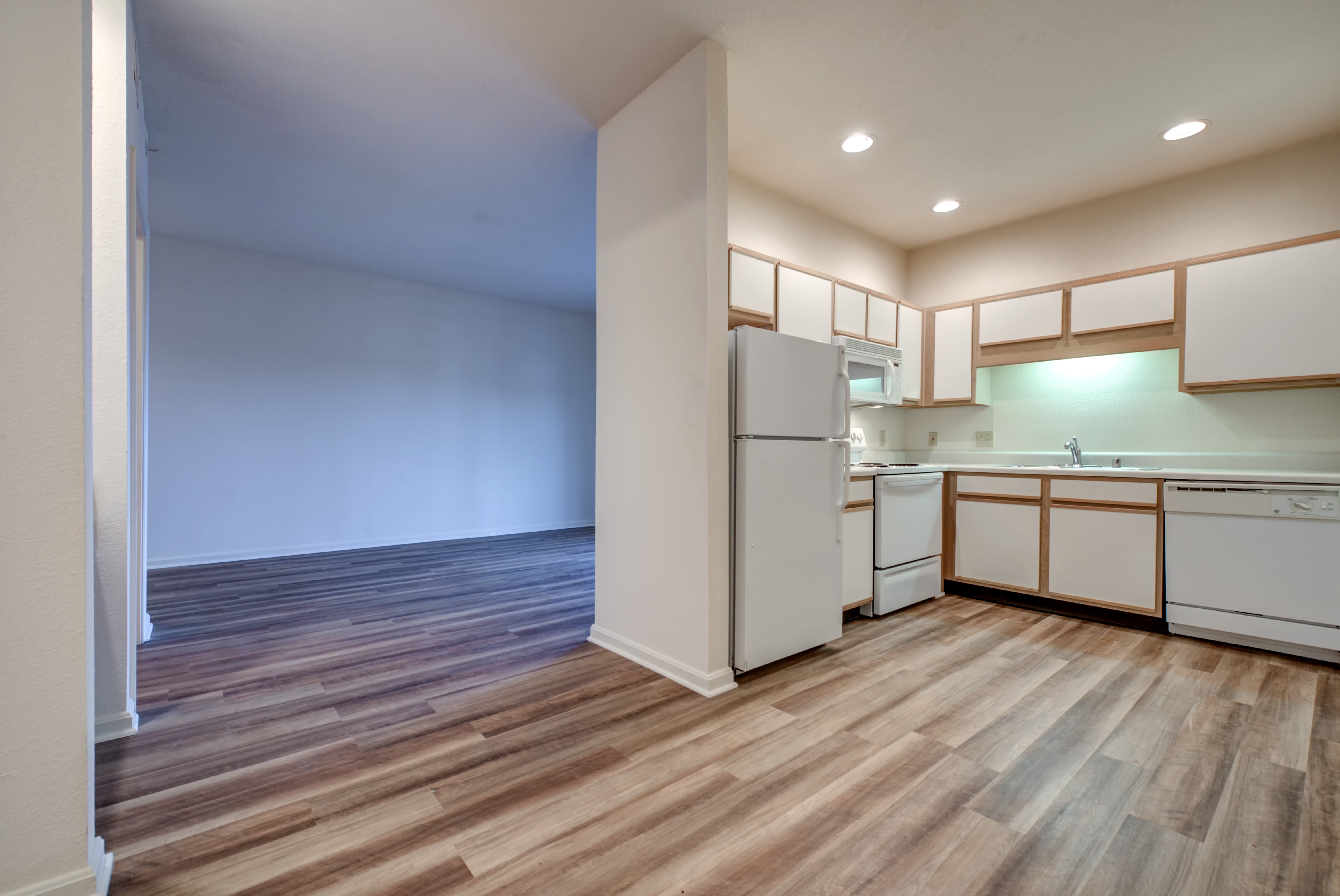 Our modern apartments in Louisville, Kentucky showcase a kitchen