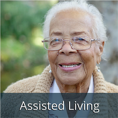 Assisted living resident at Chandler's Square Retirement Community
