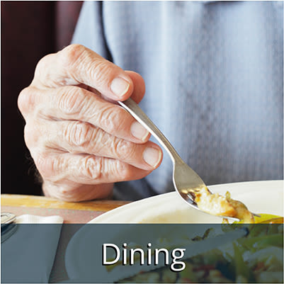 Independent living dining options at Bishop Place Senior Living