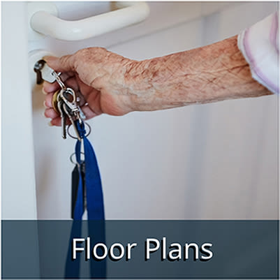 Assisted living floor plans at Kingston Bay Senior Living