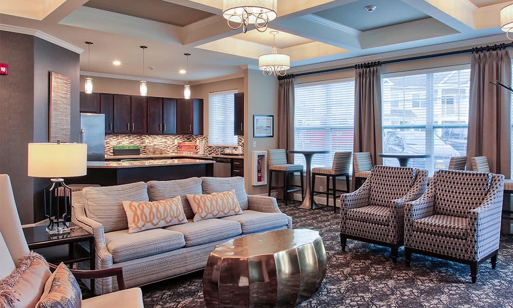 Beautiful clubhouse at Union Square Apartments in North Chili, New York