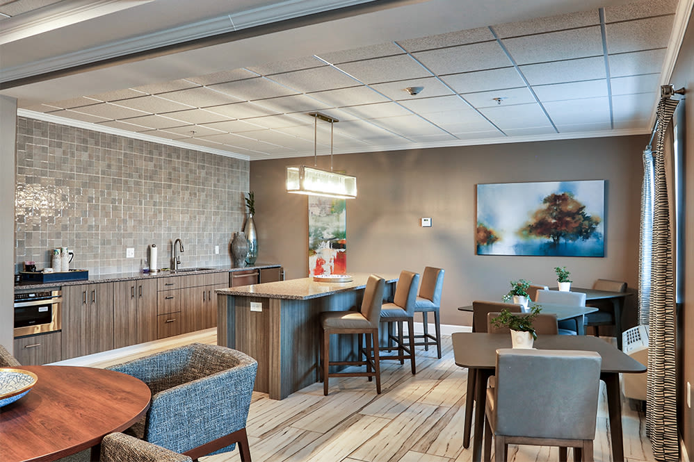 Luxury clubhouse at Villa Capri Senior Apartments in Rochester, New York