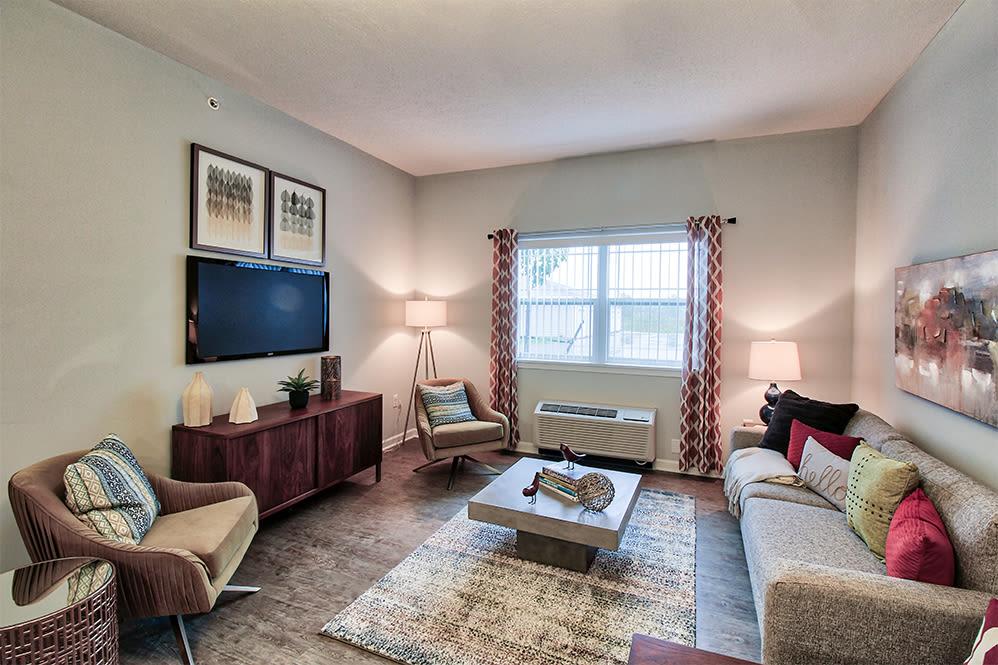 Living room at Villa Capri Senior Apartments in Rochester, New York