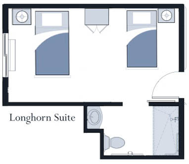 Longhorn suite at Oxford Glen Memory Care at Grand Prairie