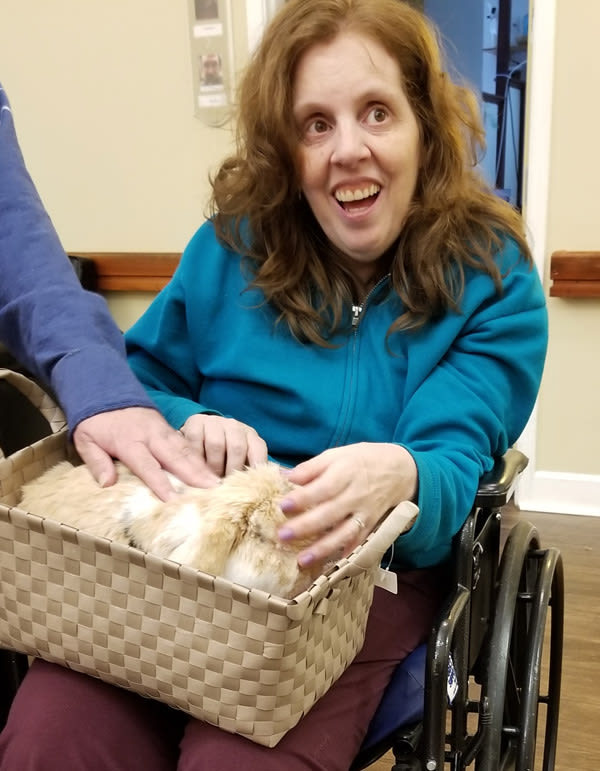 pet therapy at Bridgecreek