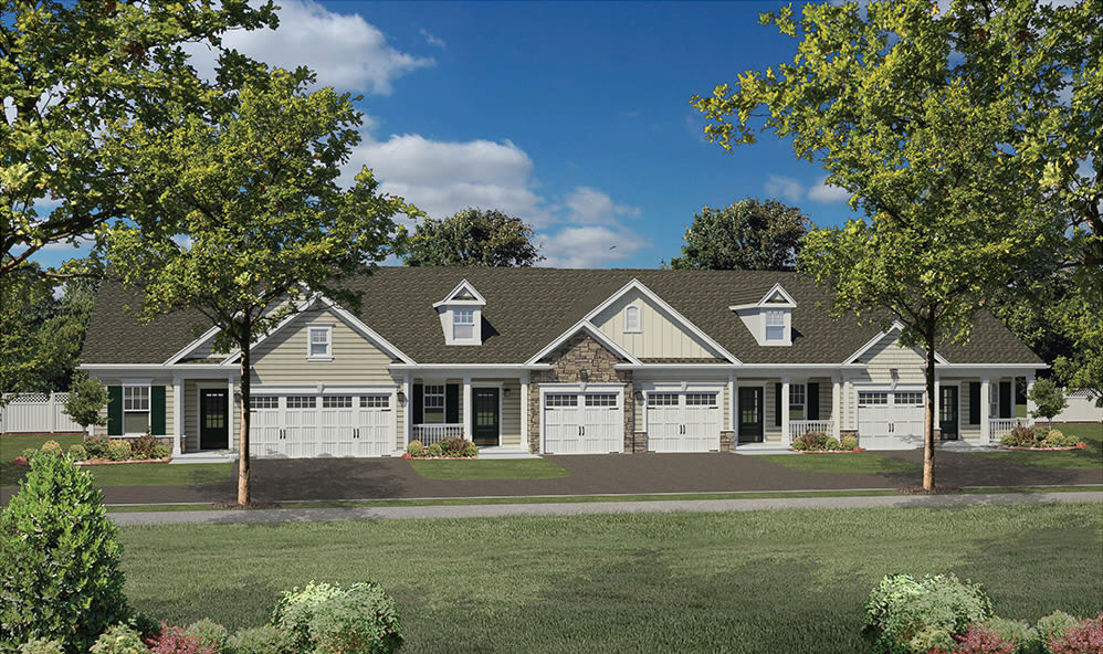Phase two rendering of new townhomes in Rochester, New York