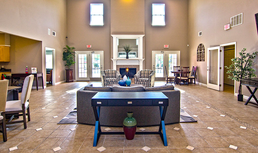 Beautiful clubhouse interior at apartments in Memphis, Tennessee