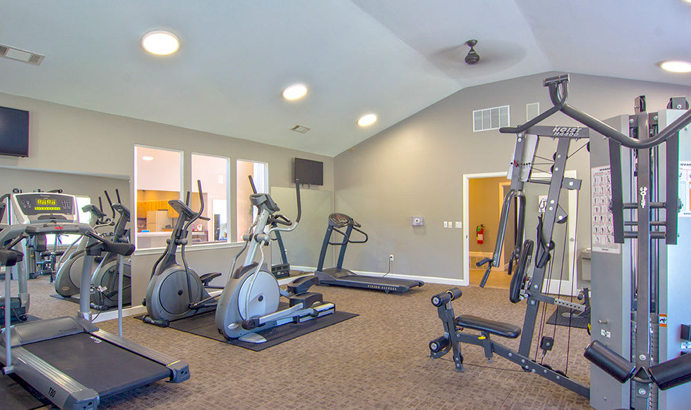 Modern fitness center at Crescent at Wolfchase in Memphis, Tennessee