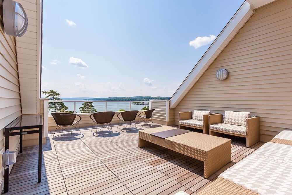 Balcony and beautiful views at Pinnacle North Apartments