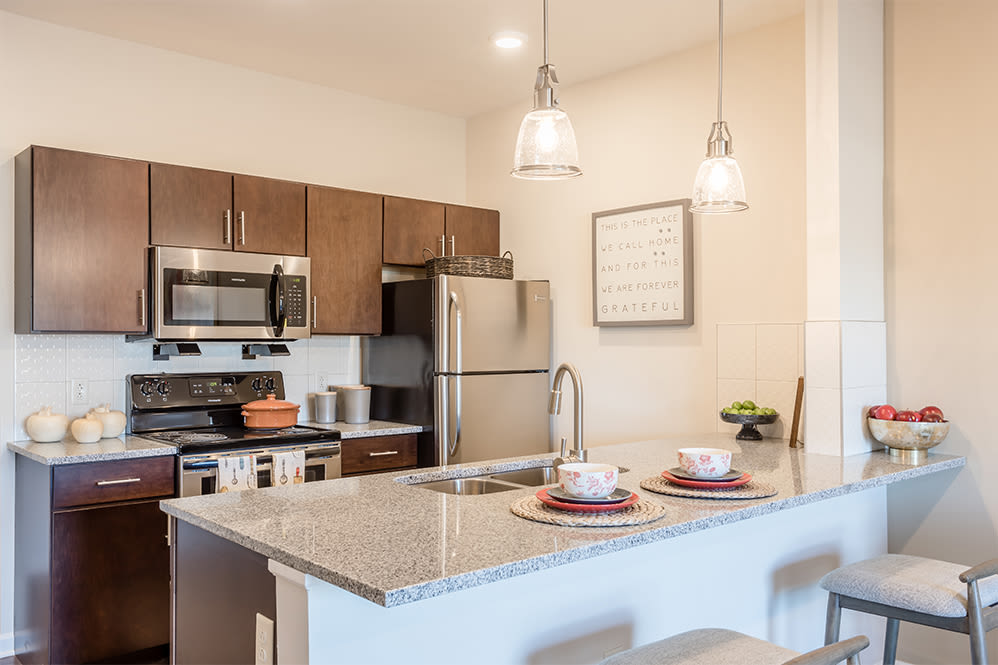 Spaces with a luxury kitchen