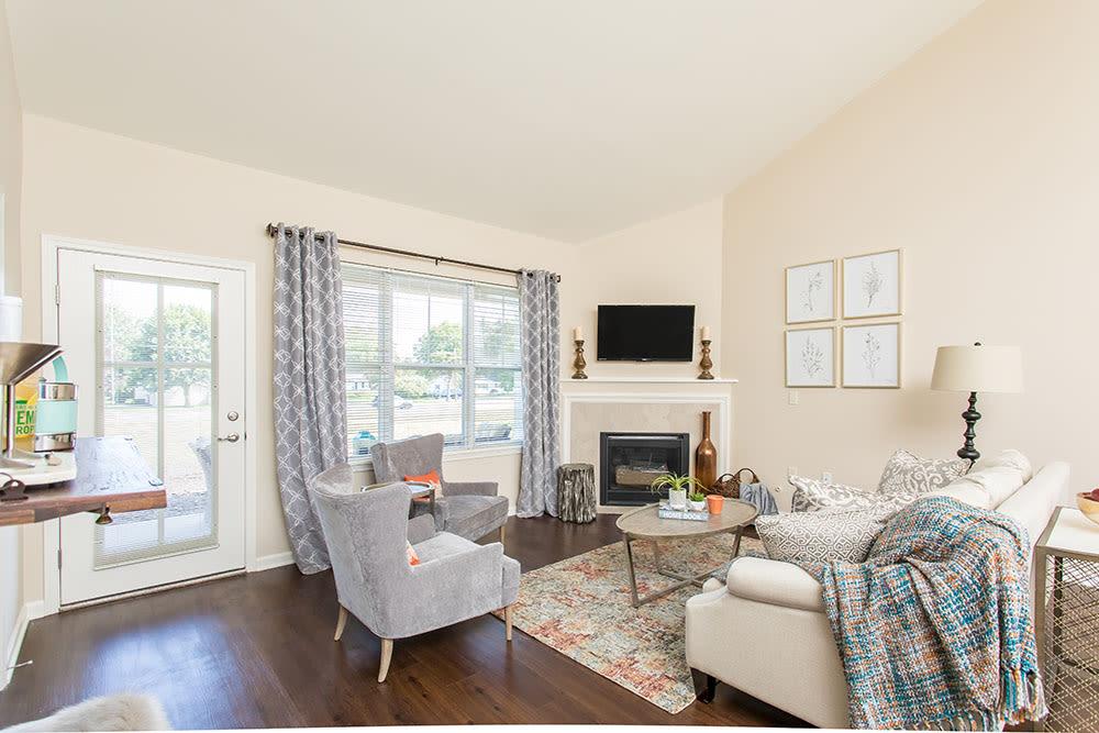 Luxury living room in Rochester, New York