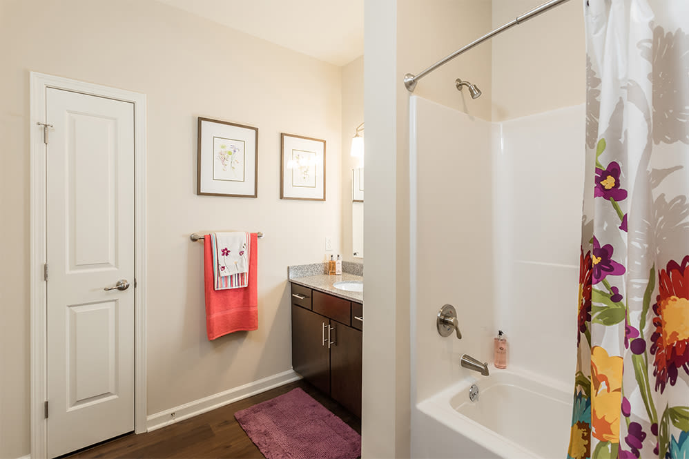 A renovated bathroom in Rochester, New York
