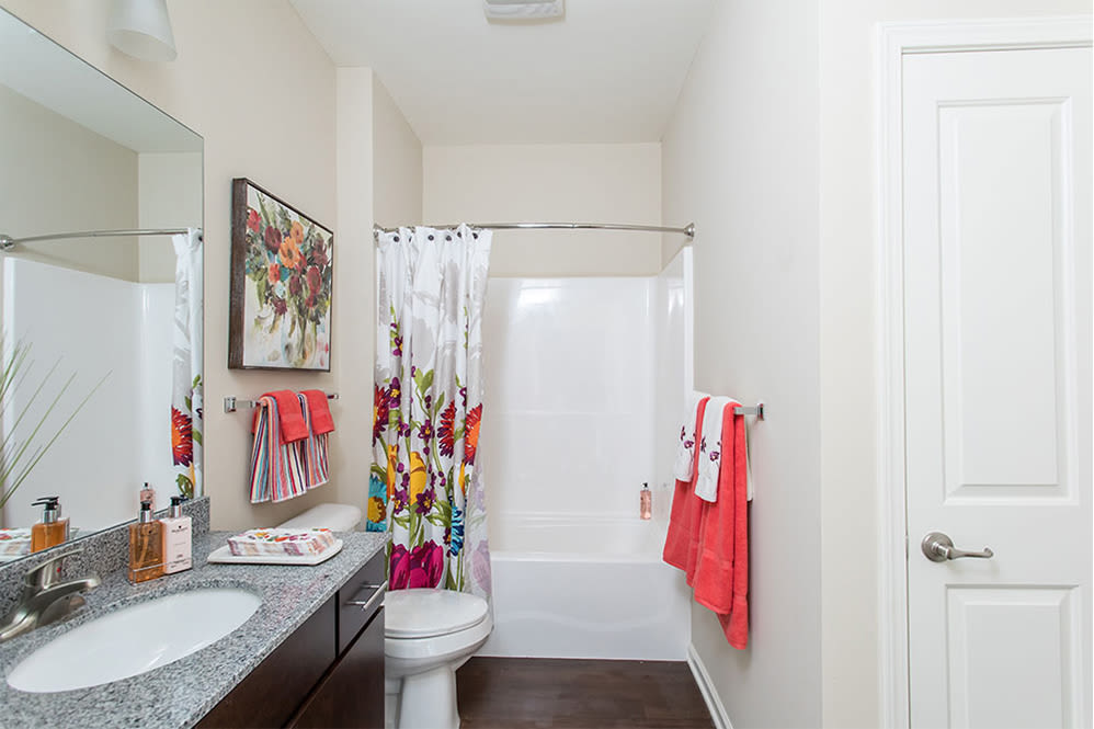 Orchard View Senior Apartments offers a bathroom in Rochester, New York