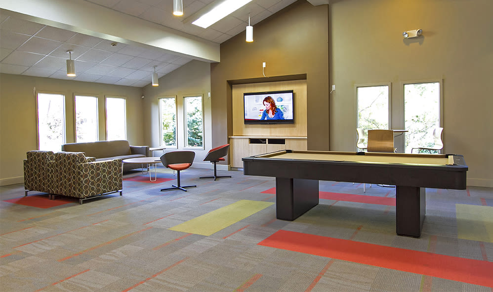 Clubhouse interior at Raintree Island Apartments in Tonawanda