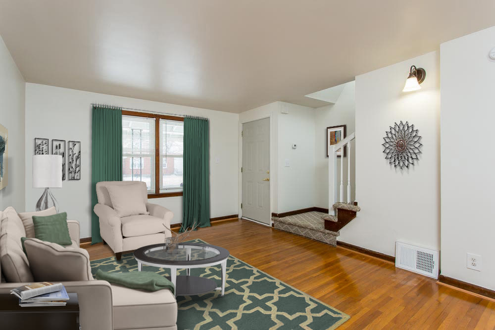 Spacious room in apartments at Park Place Townhomes
