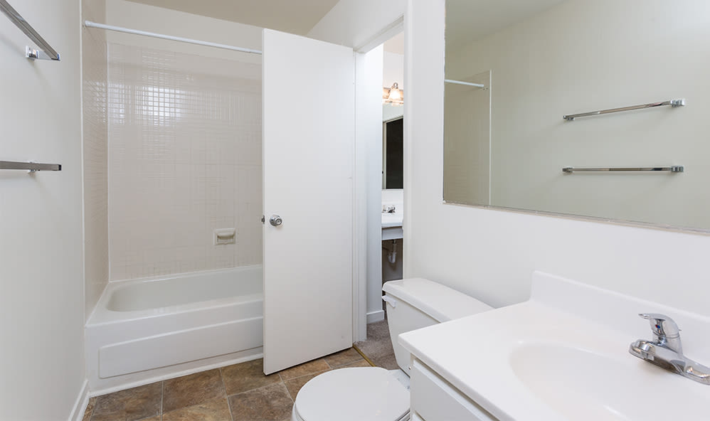 Bathroom at Emerald Springs Apartments home in Painted Post
