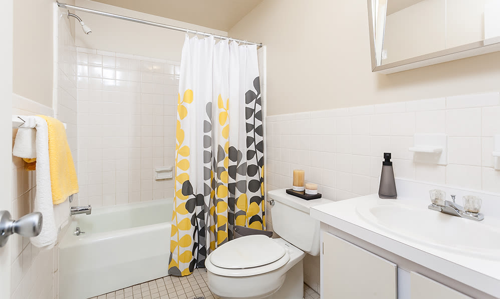 Bathroom at Willowbrooke Apartments and Townhomes home in Brockport, New York