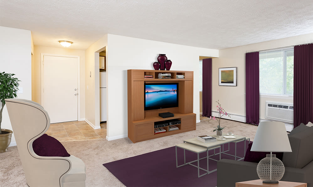 Enjoy a cozy living room at Willowbrooke Apartments and Townhomes apartments & townhomes