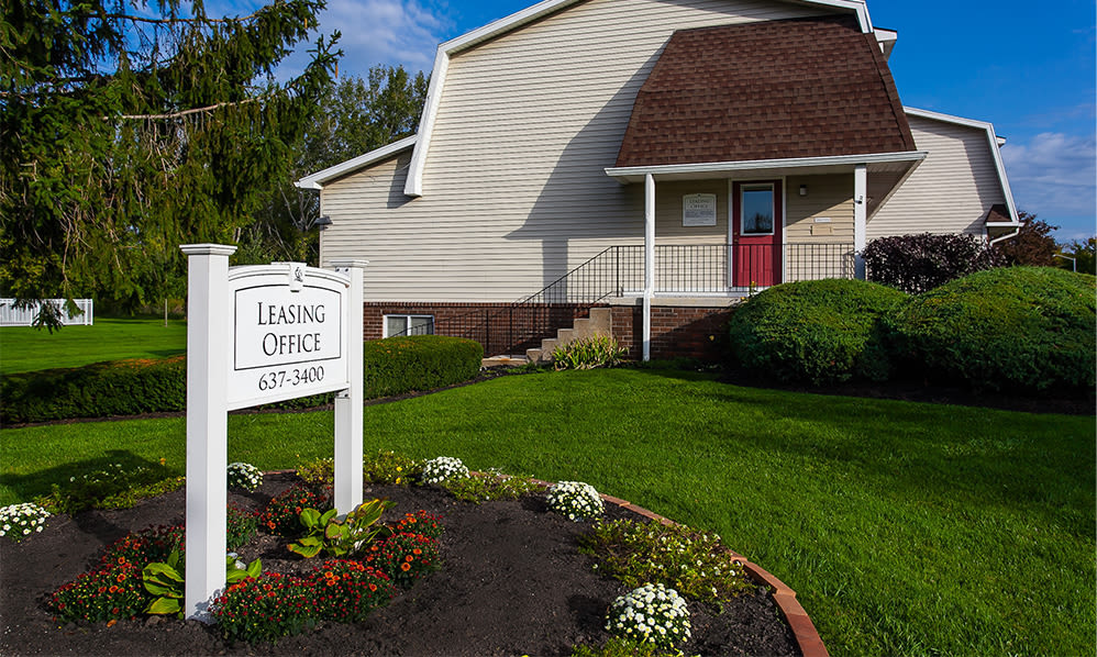 Leasing office at Willowbrooke Apartments and Townhomes in Brockport, NY