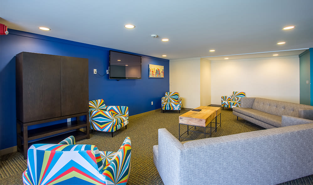 Clubhouse interior at Riverton Knolls in West Henrietta, NY