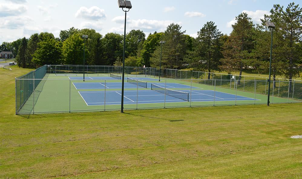 Tennis court at Riverton Knolls in West Henrietta, New York