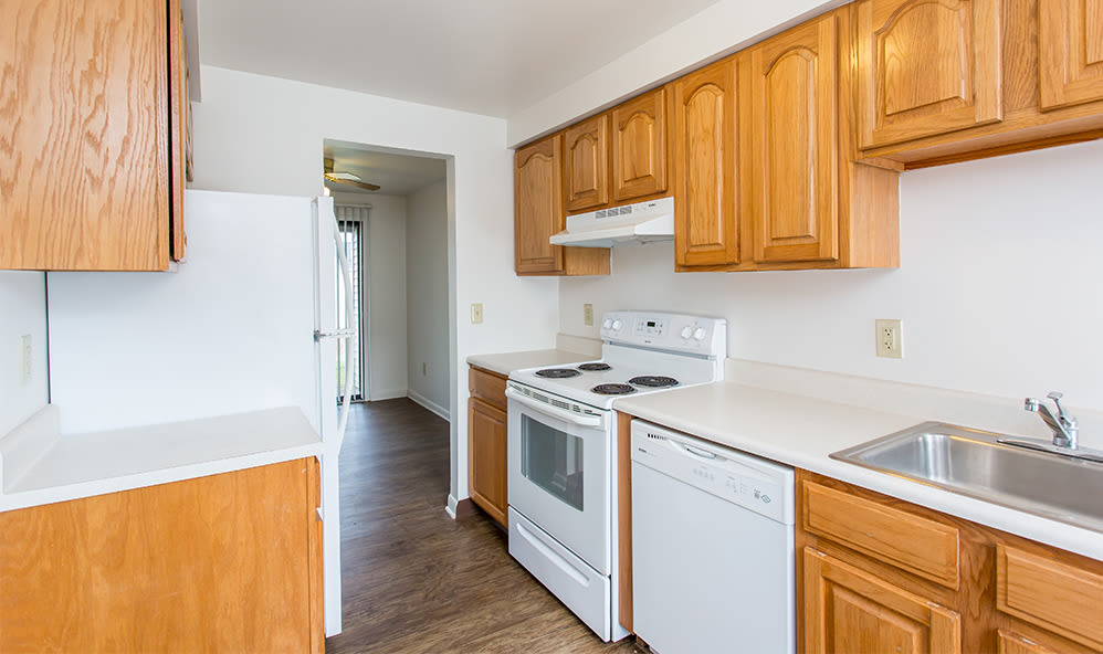 Modern kitchen at Riverton Knolls home in West Henrietta, NY