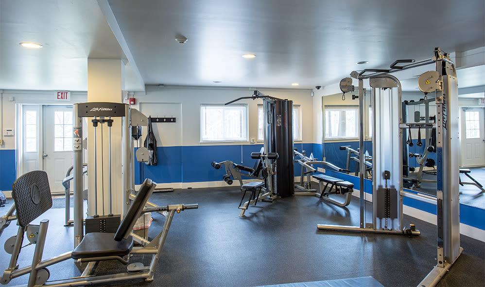 Fitness center at Riverton Knolls in West Henrietta, New York