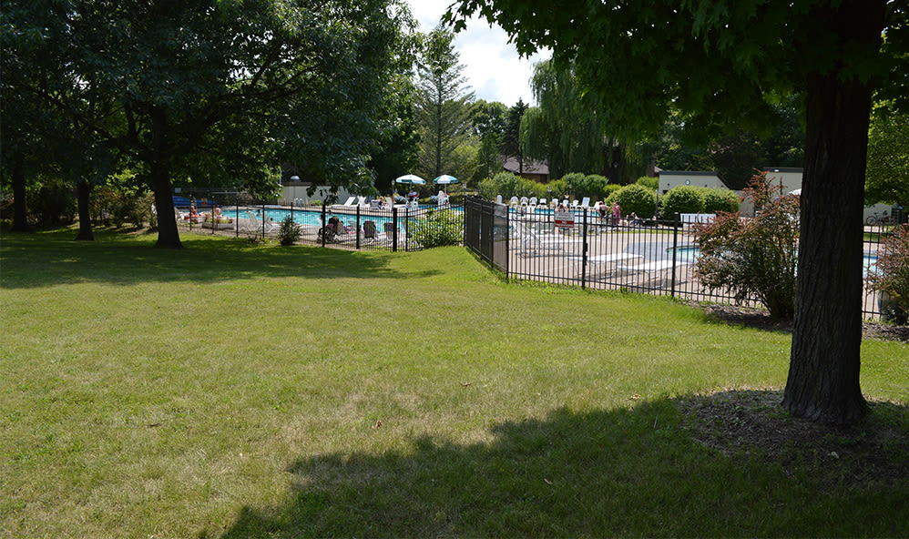 Poolside at Riverton Knolls in West Henrietta, New York