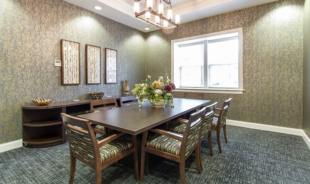 Conference table at Ethan Pointe Apartments in Rochester, New York