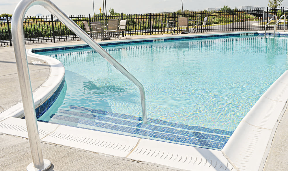 Sparkling swiming pool at Ethan Pointe Apartments in Rochester, NY