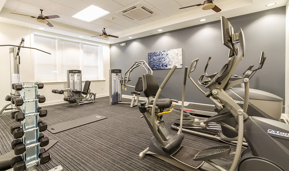 Stay healthy in our fitness center at Ethan Pointe Apartments in Rochester, NY