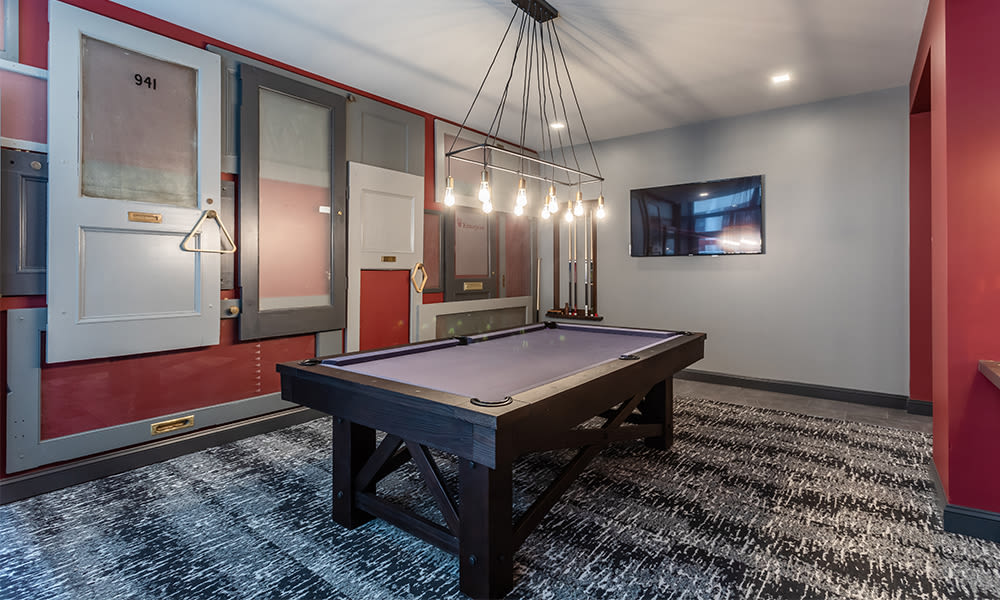 Our apartments in Rochester, New York showcase a billiards table