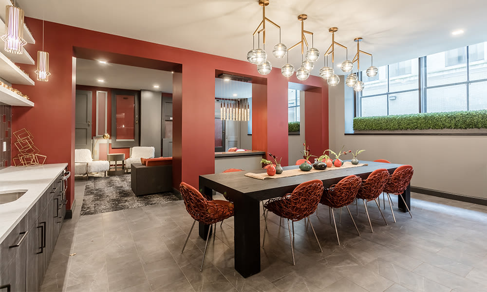 Enjoy apartments with a spacious clubhouse at The Linc