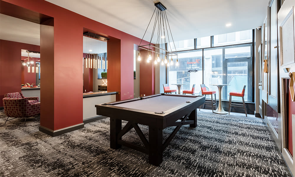 Play some pool at apartments in Rochester, New York