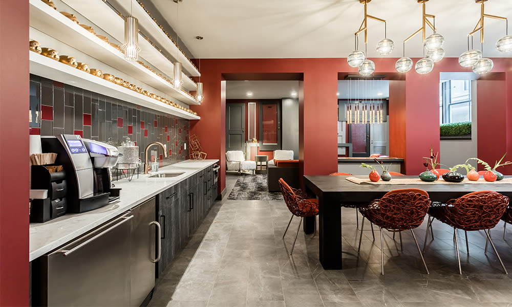 A clubhouse that is great for entertaining at apartments in Rochester, New York