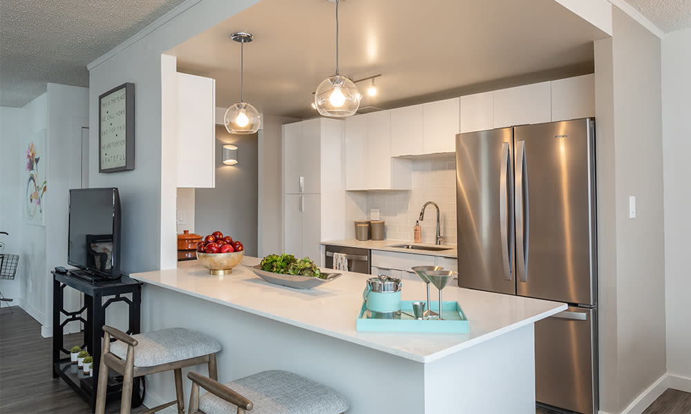 Newly updated kitchen at The Venue in Rochester, New York