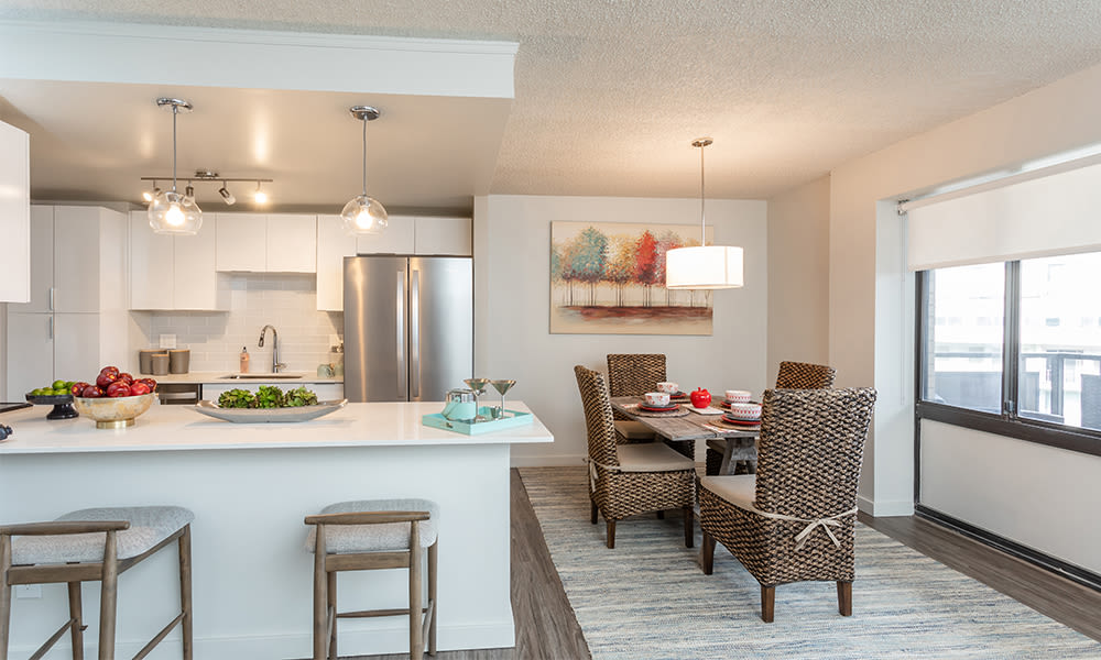 Apartments with a naturally well-lit kitchen