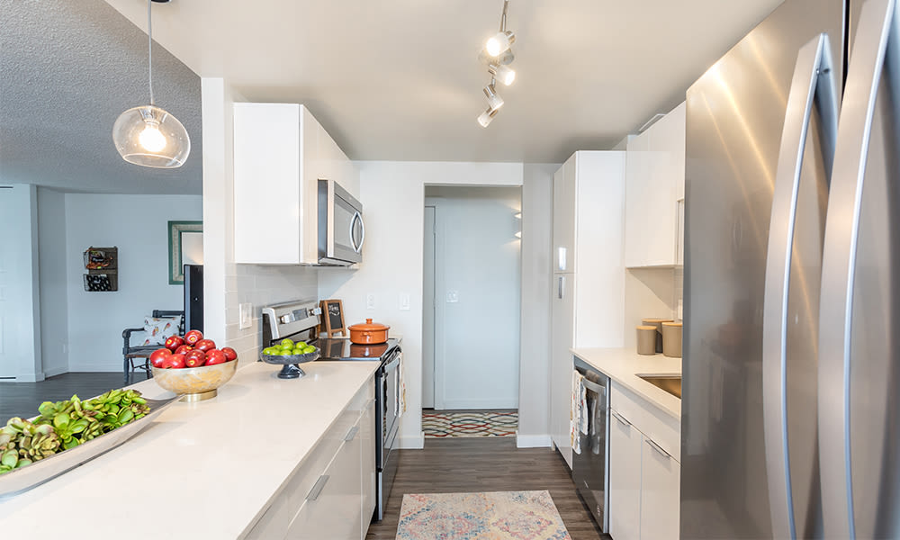 Newly updated refrigerator in our Rochester, New York apartments
