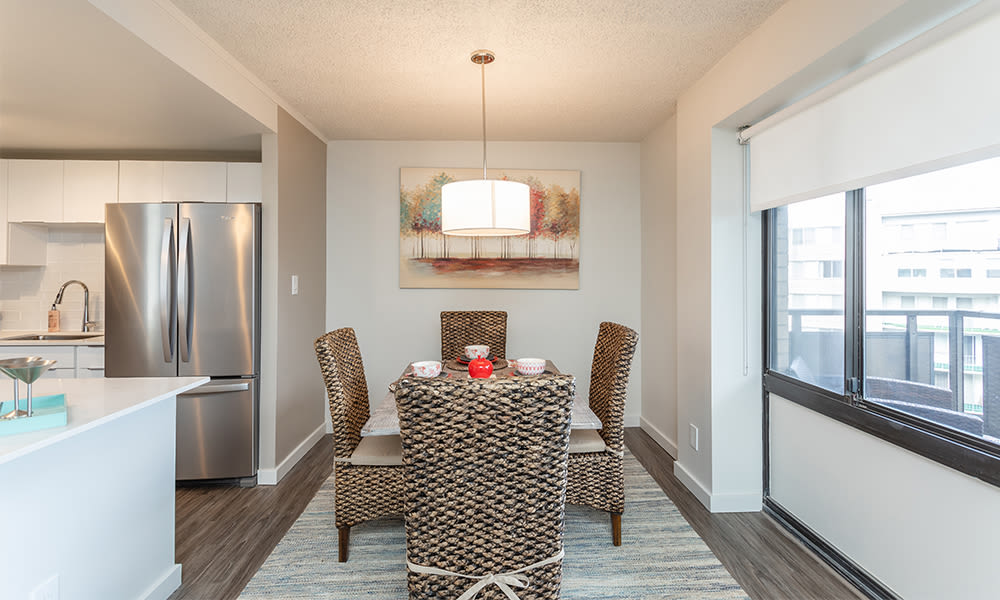 Beautiful dining area at apartments in Rochester, New York
